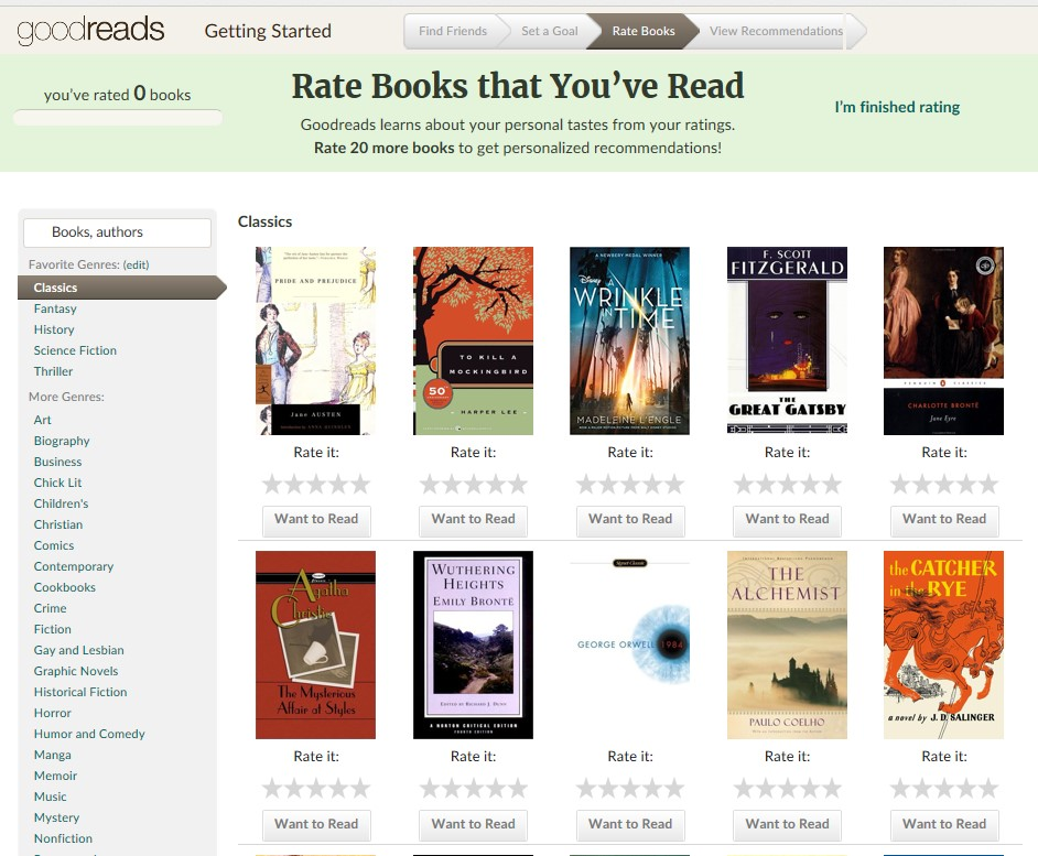 rate books valora libros leidos goodreads